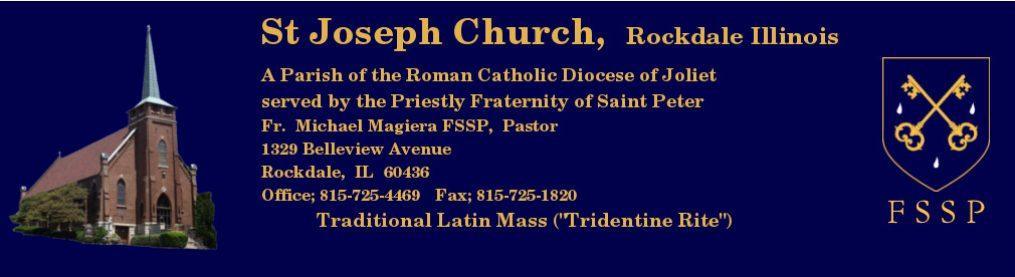 fsspjoliet – Traditional Latin Mass in the Diocese of Joliet IL